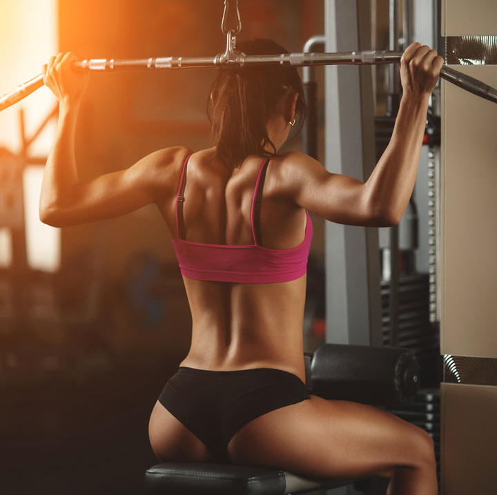 lat pull down for wide back development