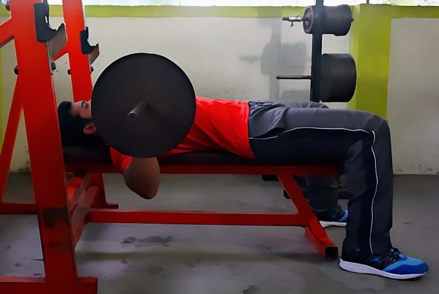 barbell press lower part