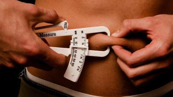 using skin fold caliper to measure fat loss