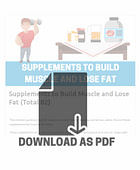 supplemets to build muscle and lose fat pdf