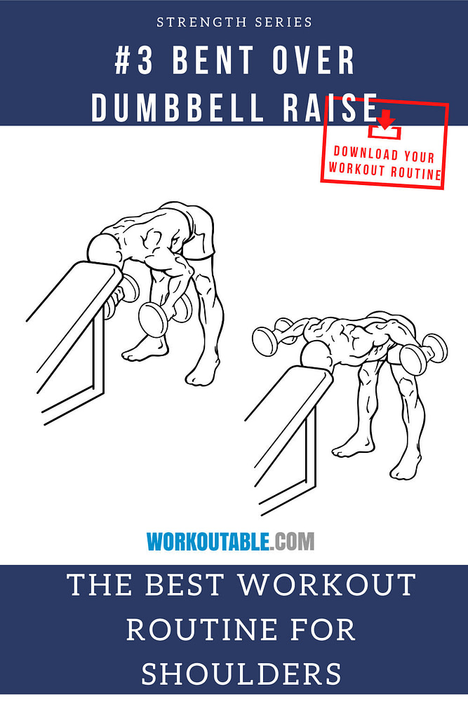 bentover dumbbell raise for shoulders