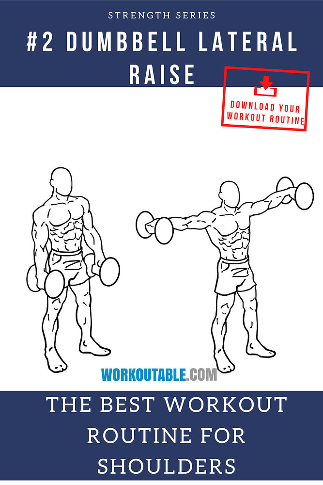 dumbbell side laterals for shoulders